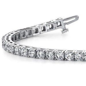 7 carats round diamond tennis bracelet diamonds